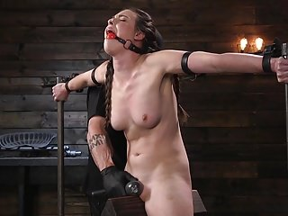 Porn goddess casey calvert and tormented in metal...