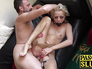 Skinny babe april paisley dominated with ass fucking...
