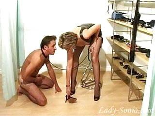 Shoe worship slave...