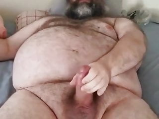 Daddy Chubby bear shot a big load