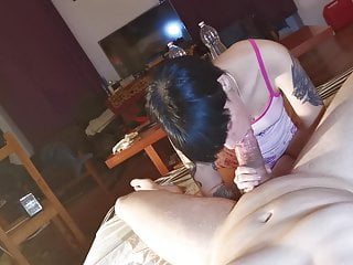 POV sloppy blowjob from my cute little stepdaughter pt1