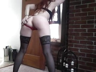 DirtyRed69 Shows off in Black Stockings and Heels