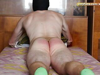 Spanking with a belt