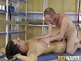 Horny maledom rubbing cocks with his cute submissive
