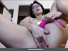Sexy mature big boobs pussy play lovense