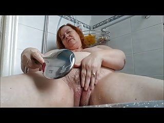 horny housewife cums in shower