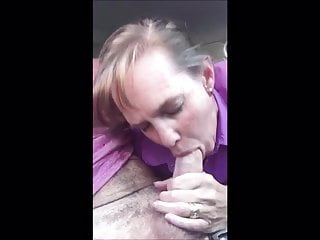 throat married Cum in of milf the car in deep