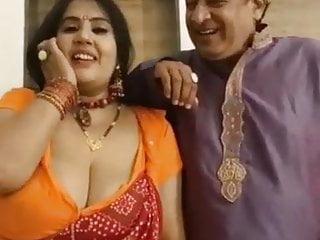 Kanchan and boob press...