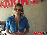 Outdoor fucking with MILF slut Cory Chase and stepson