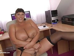 British mature secretary with huge tits