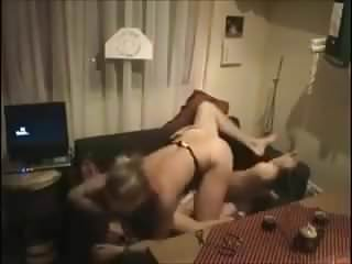 Blonde riding and getting fucked homemade