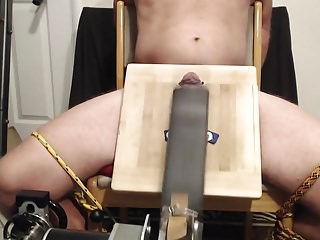 Brutal CBT with Spanking Machine