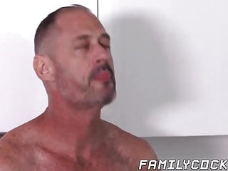 Blowjob and throat fucking stepson...