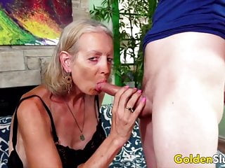 Golden Whore – Older Woman Cock licking Compilation Half 3
