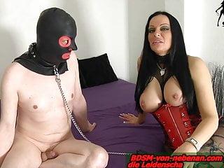 HUSBAND SLAVE - german femdom bdsm fetish wife laught him