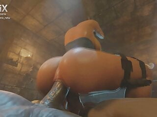 Jill Valentine – Double Penetration (Animation With Sound)