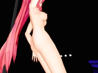 MikuMikuDance pole dances girl mmd