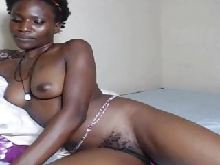 Beauty ebony Hairy on bed
