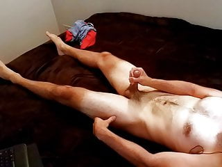 Straight Otter's Premature Cumshot from Edging (Messy Load)
