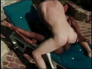 Hot brunette cock mouth and pussy outside...