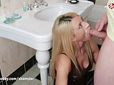 My Dirty Hobby - Facial queen takes it in the toilet