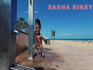 Travel nude public beach shower sasha bikeyeva canaries...