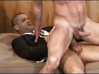 two men anal sex, riding cock  balls slapping!