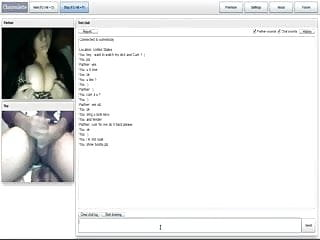Chatroulette - cum on her nice Cleavage