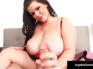 Huge boobed latina angelina castro strokes amp cock...