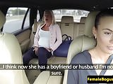 Euro cabbie gal tribbing passenger after oral