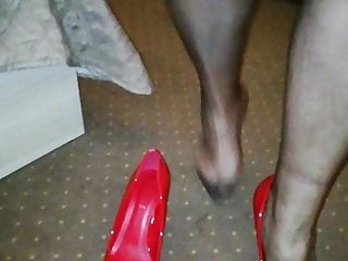 the wife puts on stockings before new year's partyHD Sex Videos