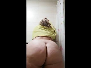 Showering creaming and jiggling by and ass...