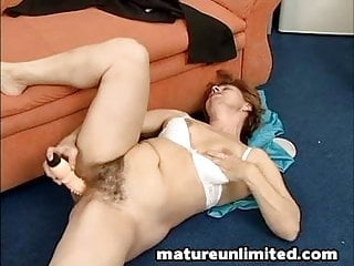 Grannys hairy pussy solo