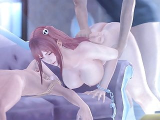 Dead or Alive 3D Hentai Roughly Fucked From Behind Moaning