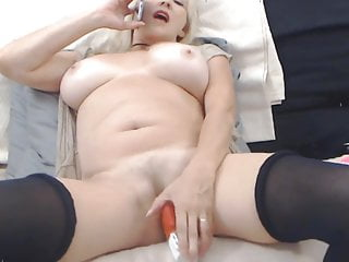 mature blonde with phone sex on webcam
