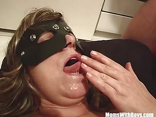 Momswithboys blonde fatty mature bondage...