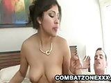 Laurie Vargas: Spicy Latina Cougar Pussy Stretched
