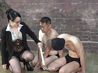 dominatrix Aoto two Hitomi trains men masochist Japanese