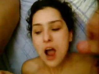 threesome hardcore facial cumshot on his girl
