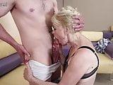 Horny mature slut mom fucking and sucking her boy