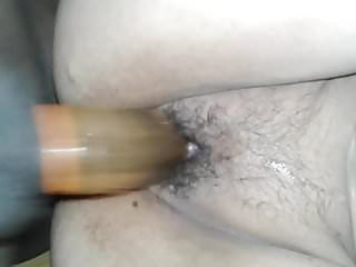 Indian wife fucking hard doggy style with condom...