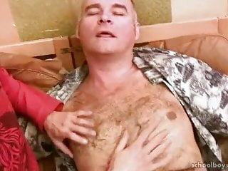 Russian daddy rims amp fucks...