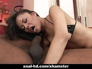 Annie haze enjoys interracial...