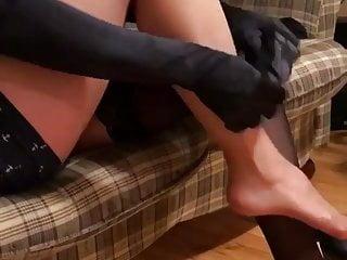 Teasing in stockings 3