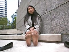 Indian mature with stinky feet