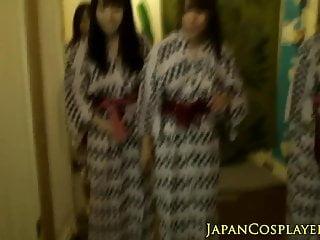 Japanese babe jerking...