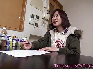 業餘的亞洲青少年搞砸在洗衣機