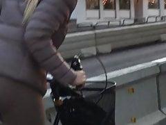 TushyLoverSweden - Creepshot - Bike babe 2