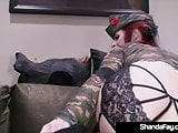 Horny Housewife Shanda Fay Shoots Her Soldier's Rifle!