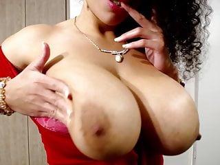 Lorene licks round latina boobs...